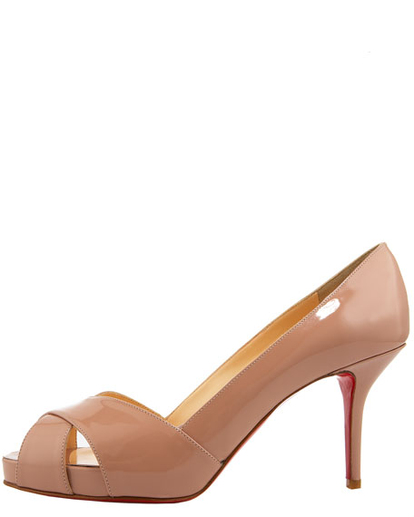 Shelly Patent Platform Pump, Nude