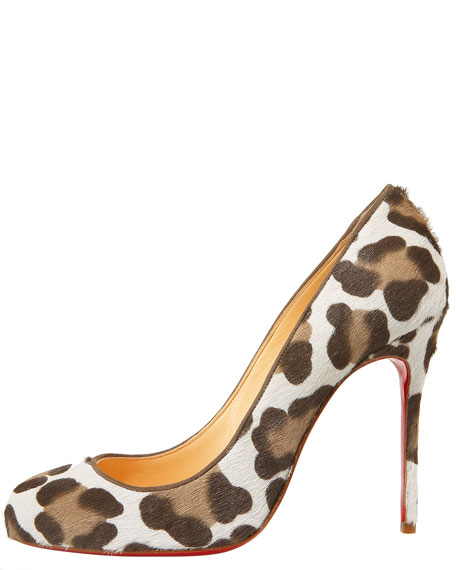 Fifi Leopard-Print Calf Hair Pump