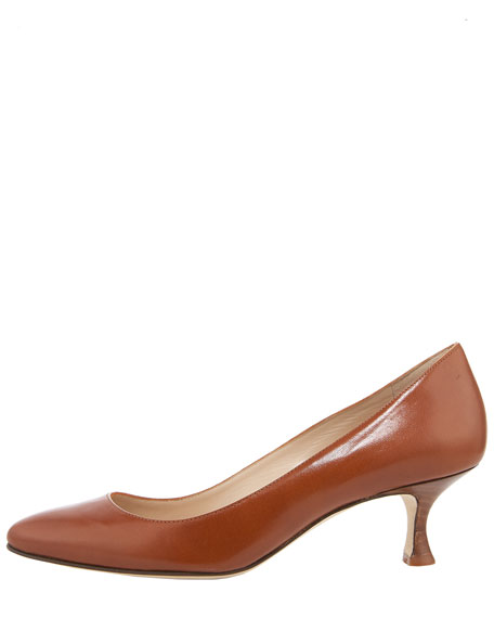 Sena Round-Toe Kid Stacked-Heel Pump