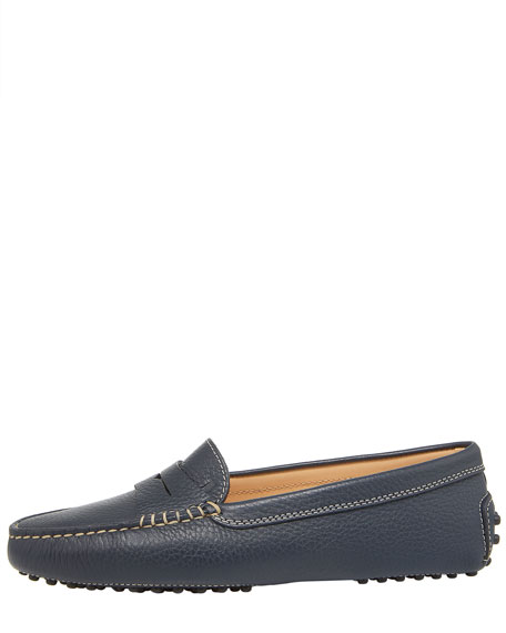 Gommini Pebbled Moccasin, Navy