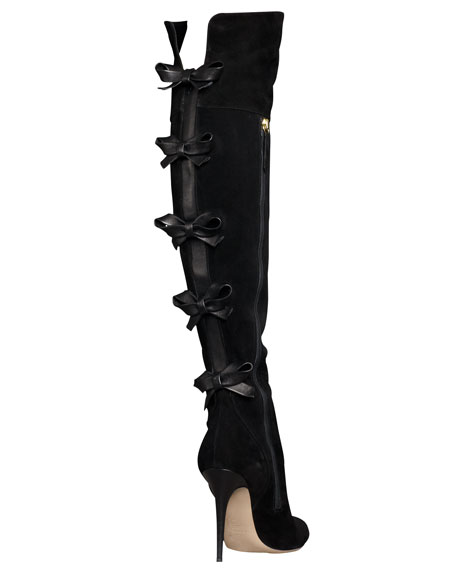Multi-Bow Over-the-Knee Boot