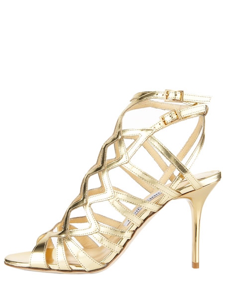 Mirrored Strappy Sandal