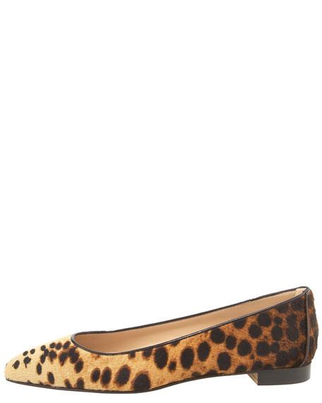 Lee Leopard-Print Calf-Hair Skimmer