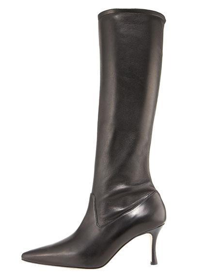 Mid-Heel Knee Boot