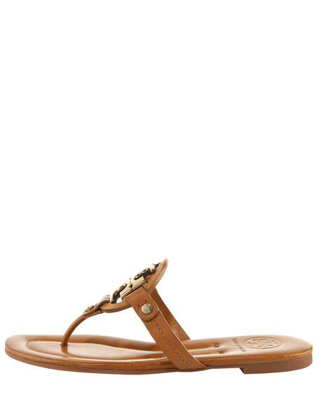Miller Flat Thong Sandal, Tan/Bronze