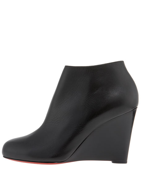 Stacked-Wedge Bootie
