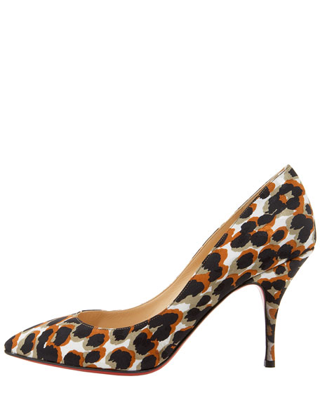 Piou Piou Leopard-Print Point-Toe Pump