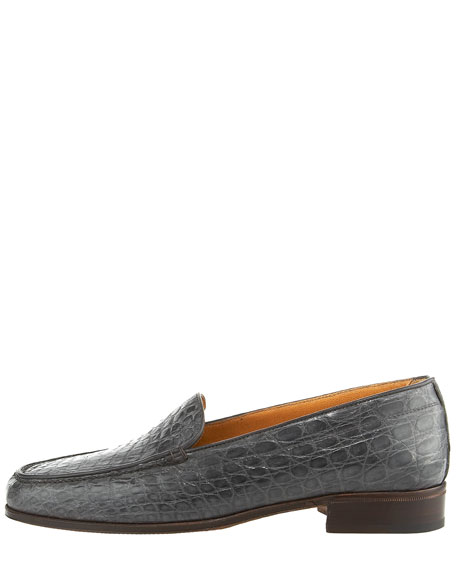 Croc-Embossed Loafer