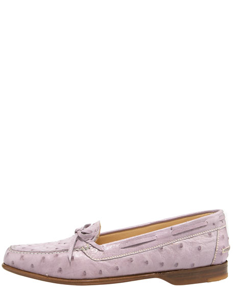 Ostrich Laced Loafer
