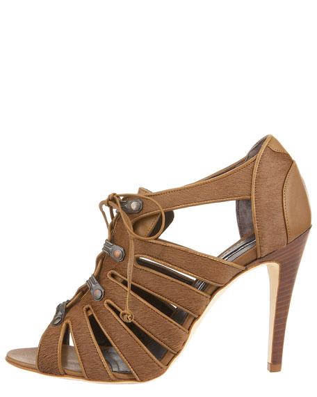 Lace-Up Cutout Sandal