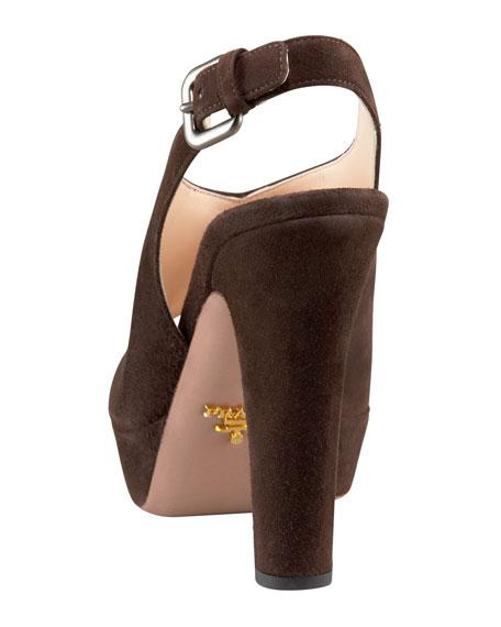 Slingback Peep Toe Sandal