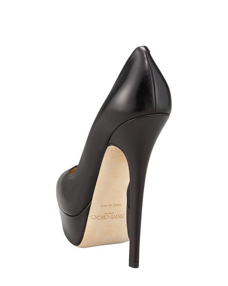 Eros Platform Leather Pump