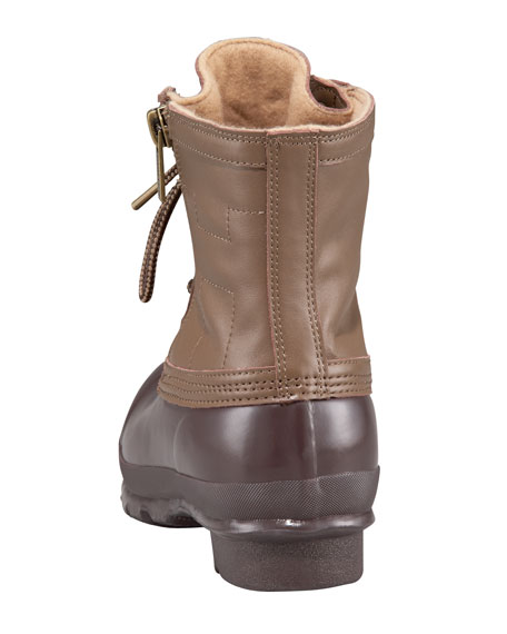 Duck Lace-Up Zip Boot