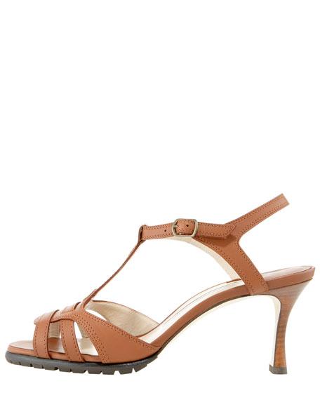 Hiken Lug-Sole T-strap Sandal