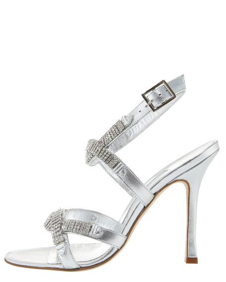 Racla Crystal Ankle-Strap Sandal