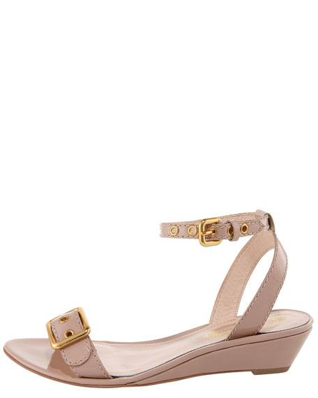 Maddie Low-Wedge Patent Sandal