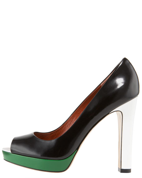 Colorblock Patent Pump