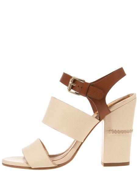 Banded Ankle-Strap Sandal