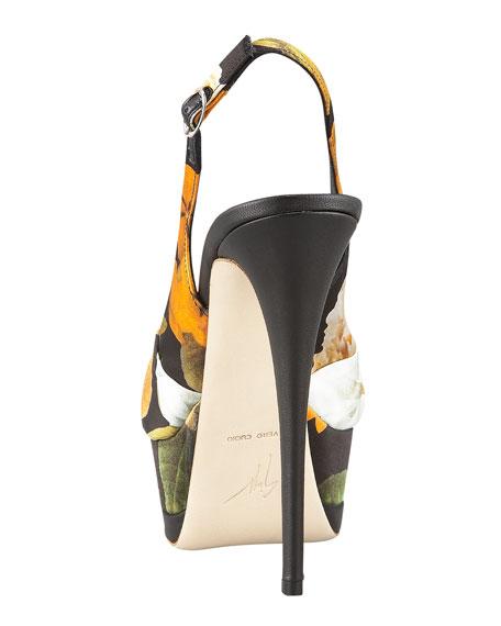 Floral-Print Platform Sandal