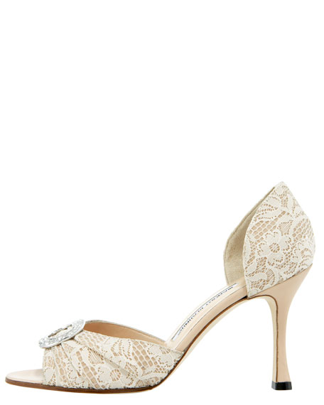 Sedaraby Bejeweled Lace d'Orsay