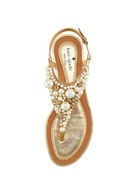 imani bead & crystal thong sandal