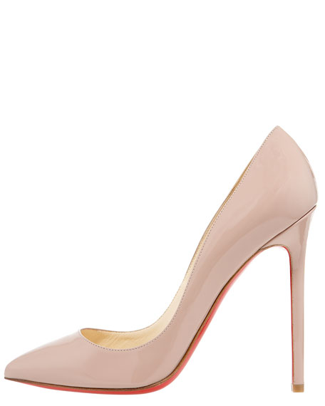 Pigalle Patent Pump, Nude