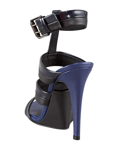 Ankle-Strap Cage Sandal