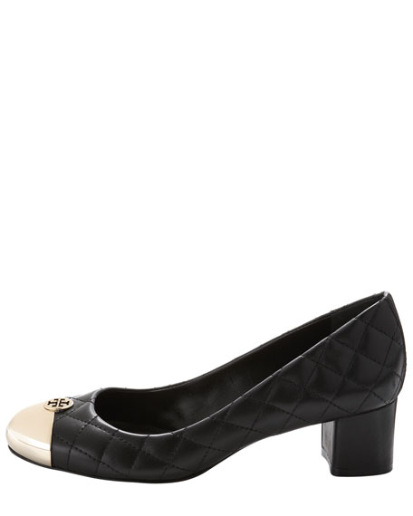 Kaitlin Quilted Metal-Toe Pump