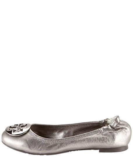 Reva Metallic Leather Ballerina