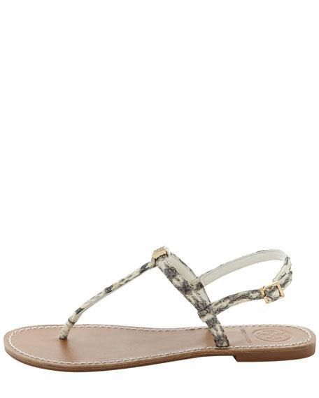 Alfie Snakeskin Thong Sandal