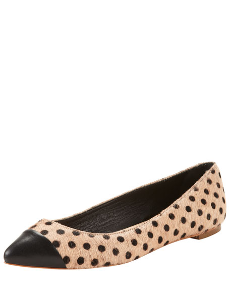 Natalie Polka-Dot Calf Hair Skimmer