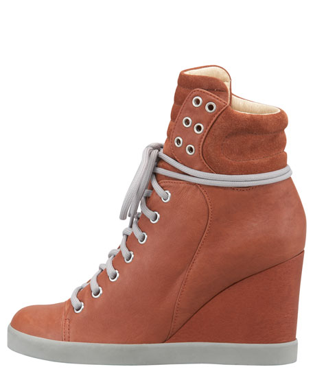 Lace-Up Wedge Sneaker