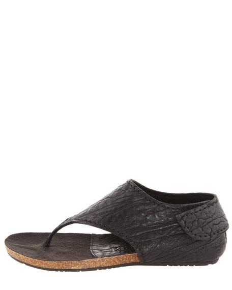 Jackie Leather Flat Sandal