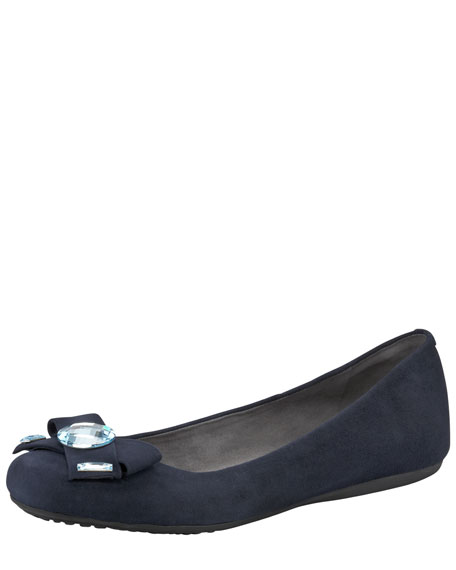 Showboat Jeweled Ballerina Flat