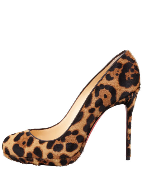 Filo Leopard-Print Hair-Calf Red Sole Pump