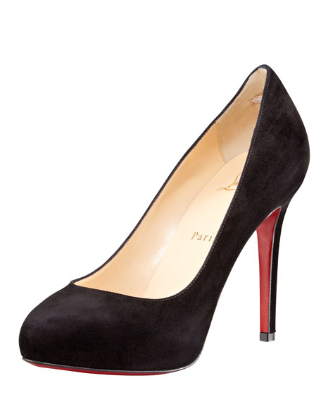 New Declic Suede Red Sole Pump