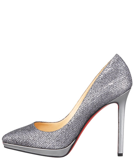 Pigalle Glittered Red Sole Pump