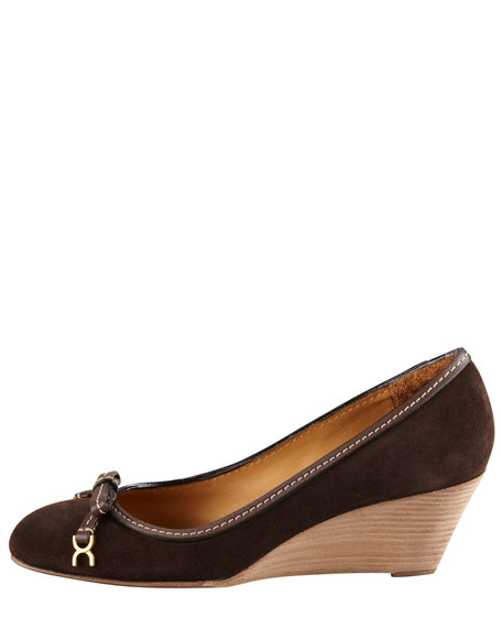 Marcie Suede Demi Wedge