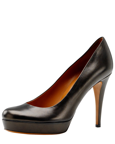 Betty Napa Leather Platform Pump