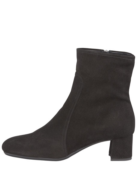 Suede Square-Toe Boot