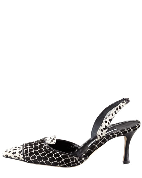 Ploiesti Stingray & Calf Hair Slingback