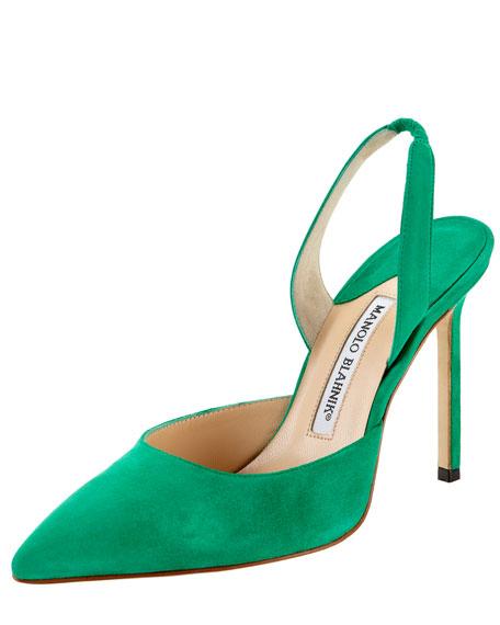 Carolyne Suede High-Heel Halter