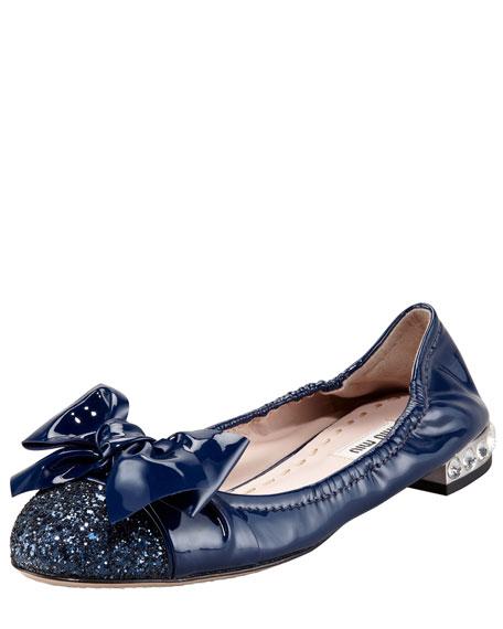 Glitter-Toe Scrunch Ballerina
