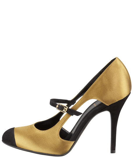 Persuasion Satin Cap-Toe Mary Jane