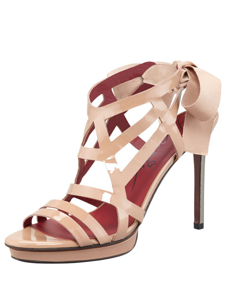 Patent Leather Cage Sandal