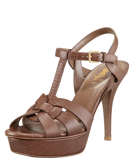 Snake-Embossed Tribute Sandal