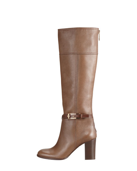 Jenna Tumbled Leather Knee Boot