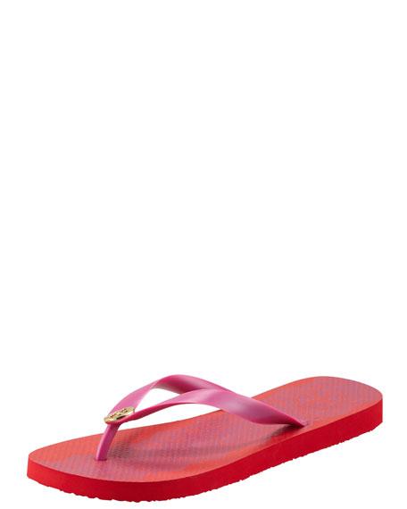 Patterned Flip-Flop Sandal