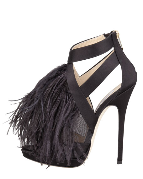 Teazer Satin-Feather Sandal