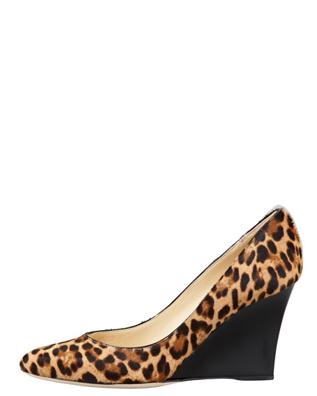 Allen Calf Hair Wedge Pump